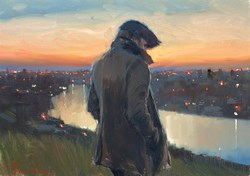 By The River (study) by Kevin Day - Original Painting on Stretched Canvas sized 14x10 inches. Available from Whitewall Galleries